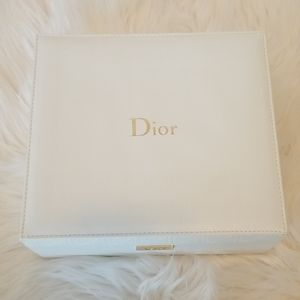 Authentic Christian Dior White and Gold box